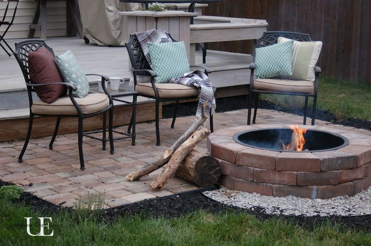 DIY Fire pit and paver patio. Great for the cool Spring nights!! #DIY ...