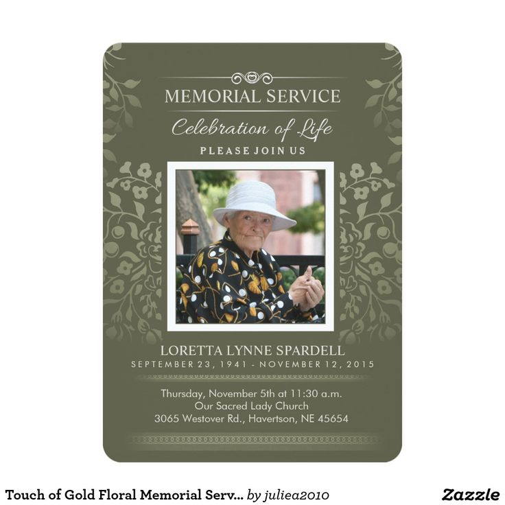 8 best Invitations for Graveside Service images on Pinterest - memorial service invitation template