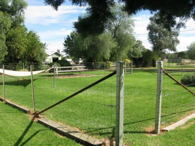 Dog run at Tooraweenah Caravan Park NSW. Park is very pet friendly.