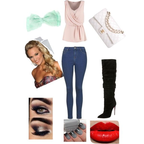 Untitled #11 by littleskate on Polyvore featuring polyvore, beauty, Chanel, Anna Field, Topshop and Christian Louboutin