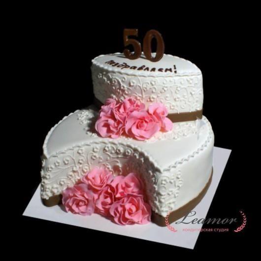 Торт на 50 лет женщине