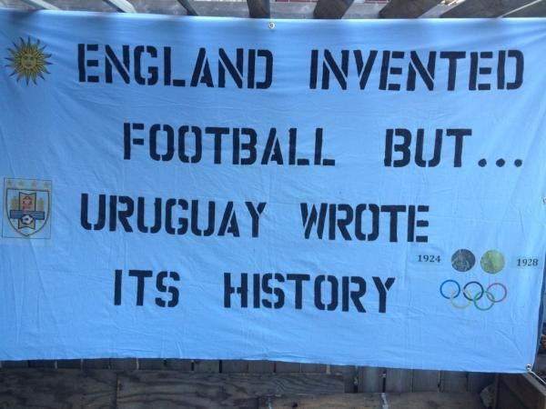 England invented football but... Uruguay wrote it's history.-