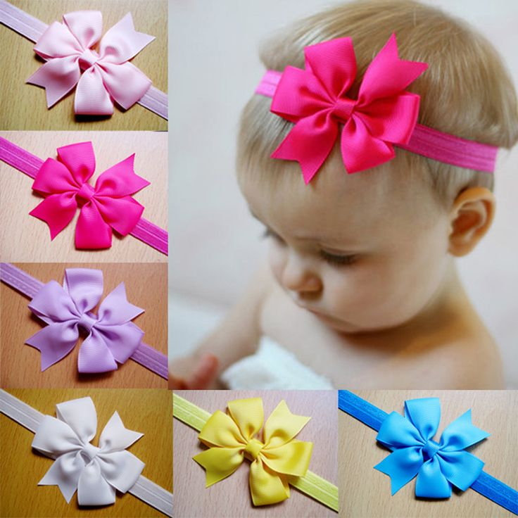 HOUDA Baby Hair Accessories Kids Double Bow Knot Headband Bebe Infant Chiffon Summer Girl Para El Pelo Turbantes Jewelry BH005 #Affiliate