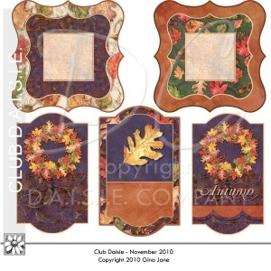 Hágalo usted mismo, para imprimir etiquetas y etiquetas para el otoño, que da el regalo de otoño, hace que las tarjetas hechas a mano, etiquetas y marcadores de lugar por Gina Jane. Imprimibles derechos, Imágenes Gratis, Juegos Gratis, Gratis Clip Art Digital, Gráficos y fondos para scrapbooking, Gina Jane Designs - DAISIE Compañ