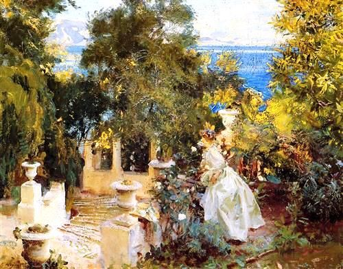 A garden in Corfu by John Singer Sargent. Happy weekend everyone. http://www.corfupropertyexperts.com/