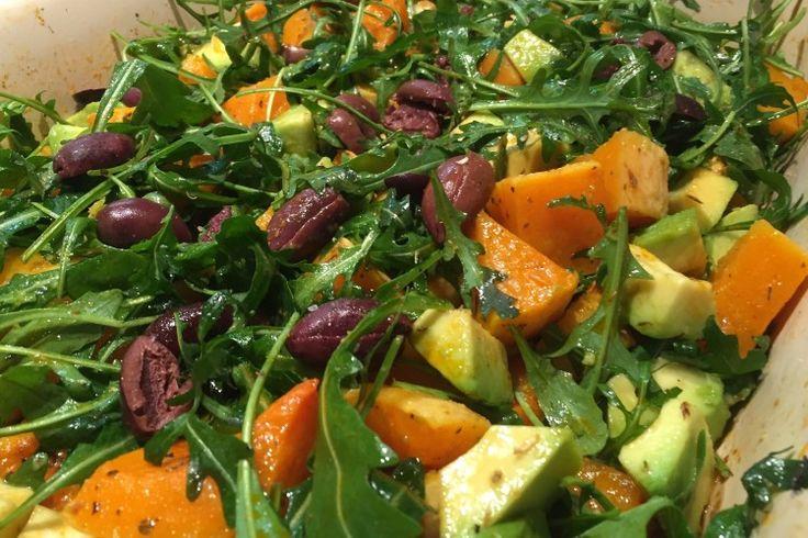 Salát s dýní a avokádem