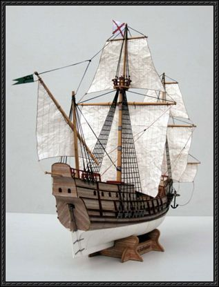 16th Century Spanish Galleon San Salvador Free Paper Model Download