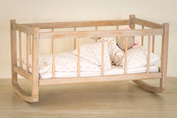 Wooden Rocking Doll S Bed Reserved Kids Toys Doll