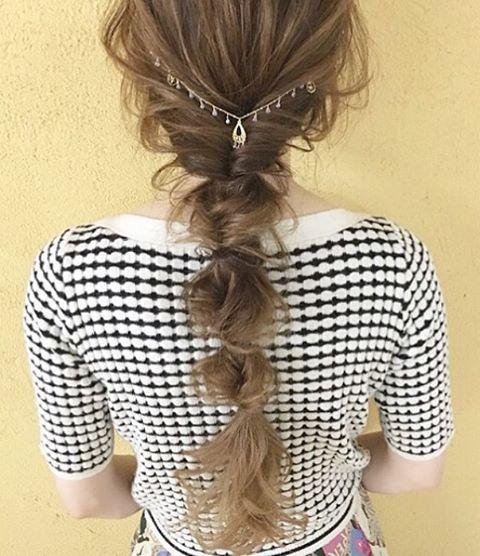 クルリンパを四つしてクズしたStyle #大阪#深井#堺#美容師#KAINO泉北店 #簡単ヘアアレンジ#love#hairstyle#hair #ロングアレンジ #ローポニー#バックカチューシャ#クルリンパ#ヘアアレンジ#ヘアセット
