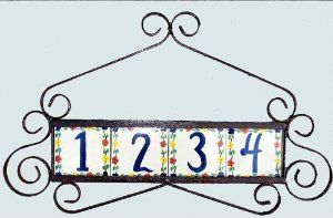 Wrought Iron Address Plaque . $42.99