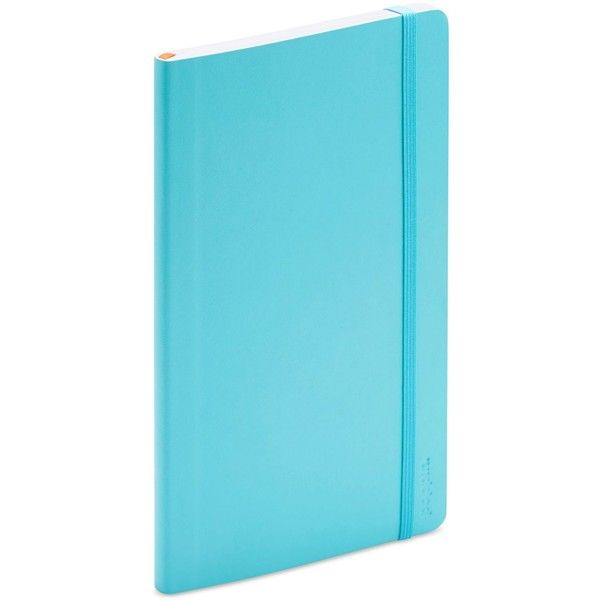 Poppin Medium Soft-Cover Notebook ($13) ❤ liked on Polyvore featuring home, home decor, stationery and aqua