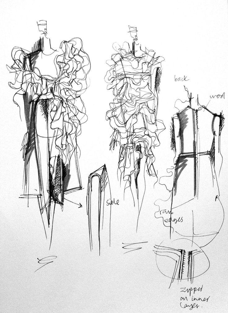 Fashion Sketchbook - fashion design drawings; dress sketches; fashion portfolio…