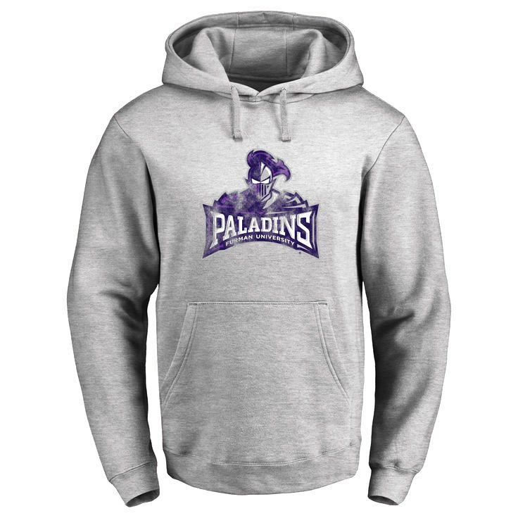 Furman Paladins Classic Primary Logo Pullover Hoodie - Ash - $64.99
