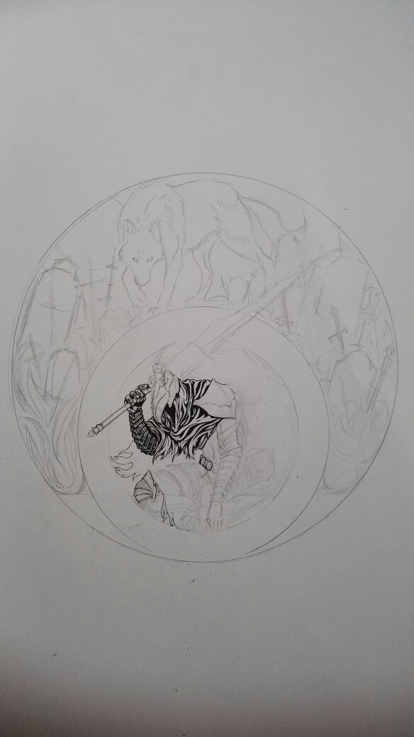 W.i.P - Knight Artorias and Sif by Aleios