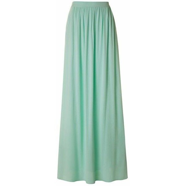 Mint Julep Maxi Skirt ❤ liked on Polyvore featuring skirts, mint skirt, green skirt, maxi skirt, long skirts and mint long skirt