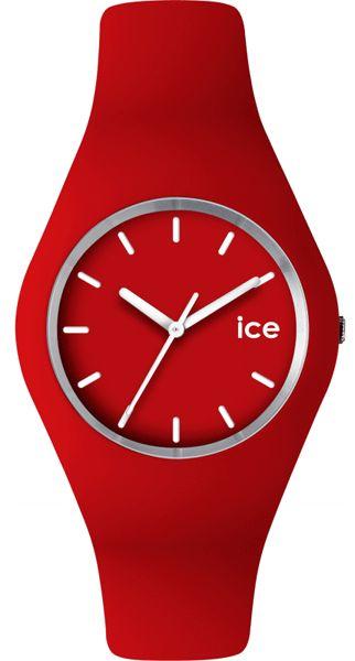 #Reloj unisex analógico con caja de plástico, Correa de silicona roja y esfera roja. Resistente al agua