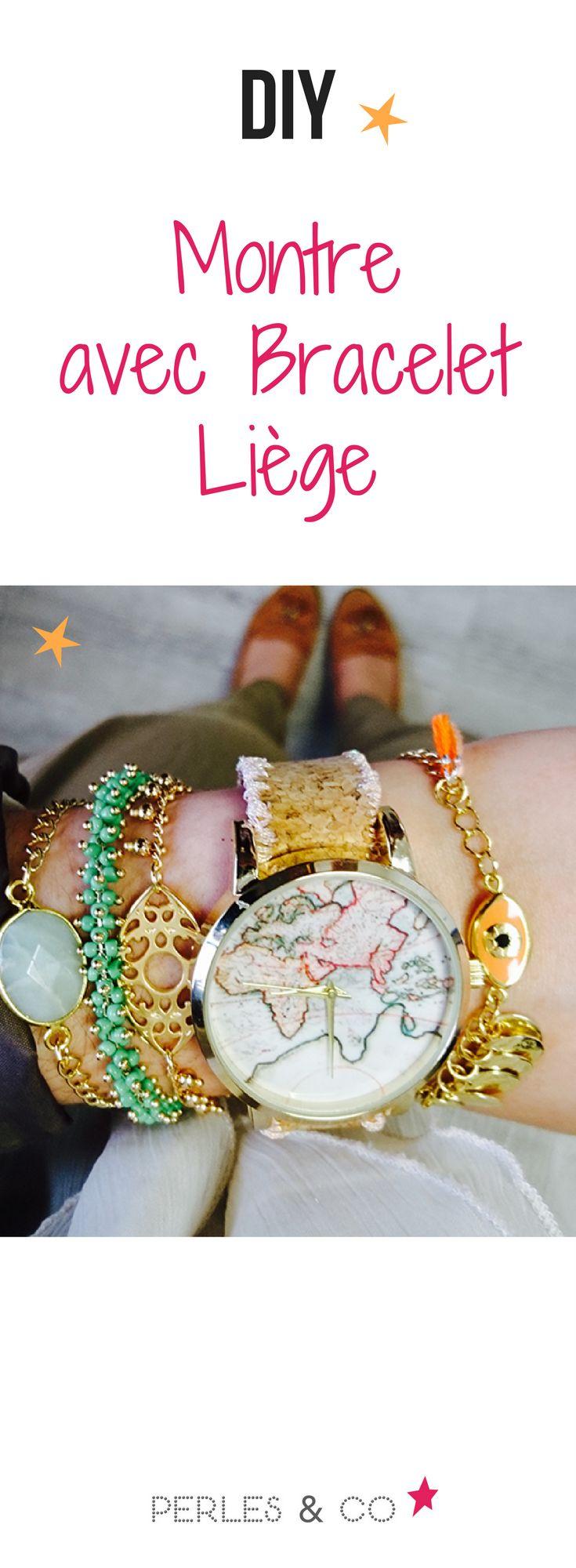 Comment fabriquer votre propre montre ? Ce DIY (Do It Yourself) vous apprend comment créer une montre originale avec un bracelet en tissu liège. Plus besoin de dépenser beaucoup d'argent pour l'achat de votre montre, celle-ci est facile et rapide à faire, et vous pourrez dire que c'est vous qui l'avez faite ! #diy #montre #tutoriel #liège #cadran