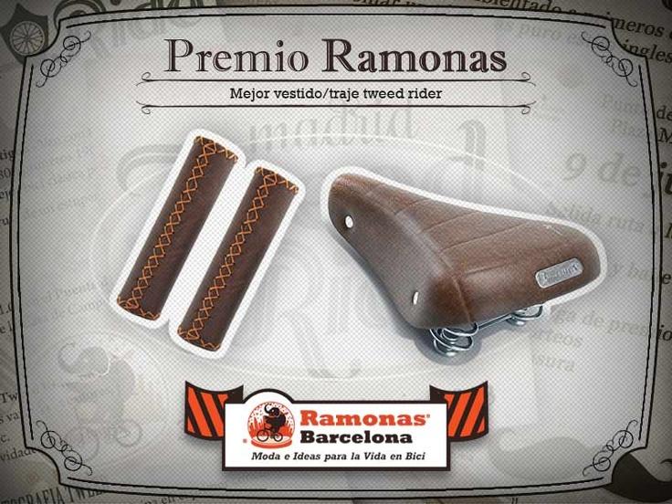 """Este será el premio Ramonas categoría """"Mejor vestido/traje tweed rider"""", para el """"Tweed Ride Madrid"""" del prox. domingo. Sillín y puños polipiel  http://bcnramonas.com/76231_es http://bcnramonas.com/76215_es"""