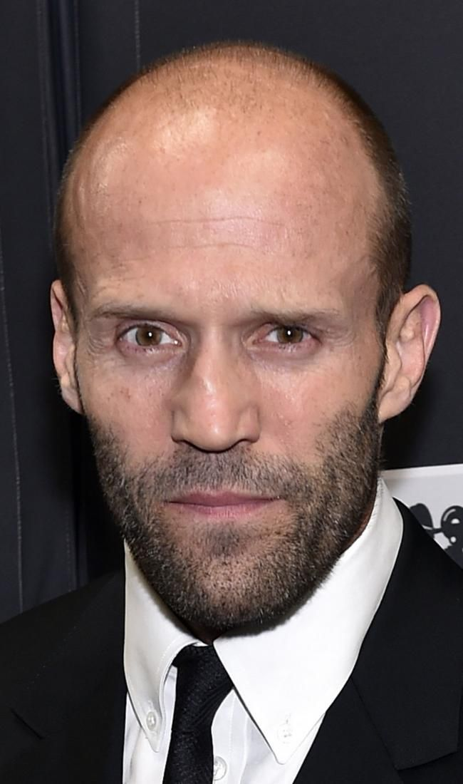 Actor Jason Statham attends the Pioneer of the Year dinner at Caesars Palace during CinemaCon, the official convention of the National Association of Theatre Owners, in Las Vegas, Nevada on April 22, 2015. Photo by David Becker/UPI