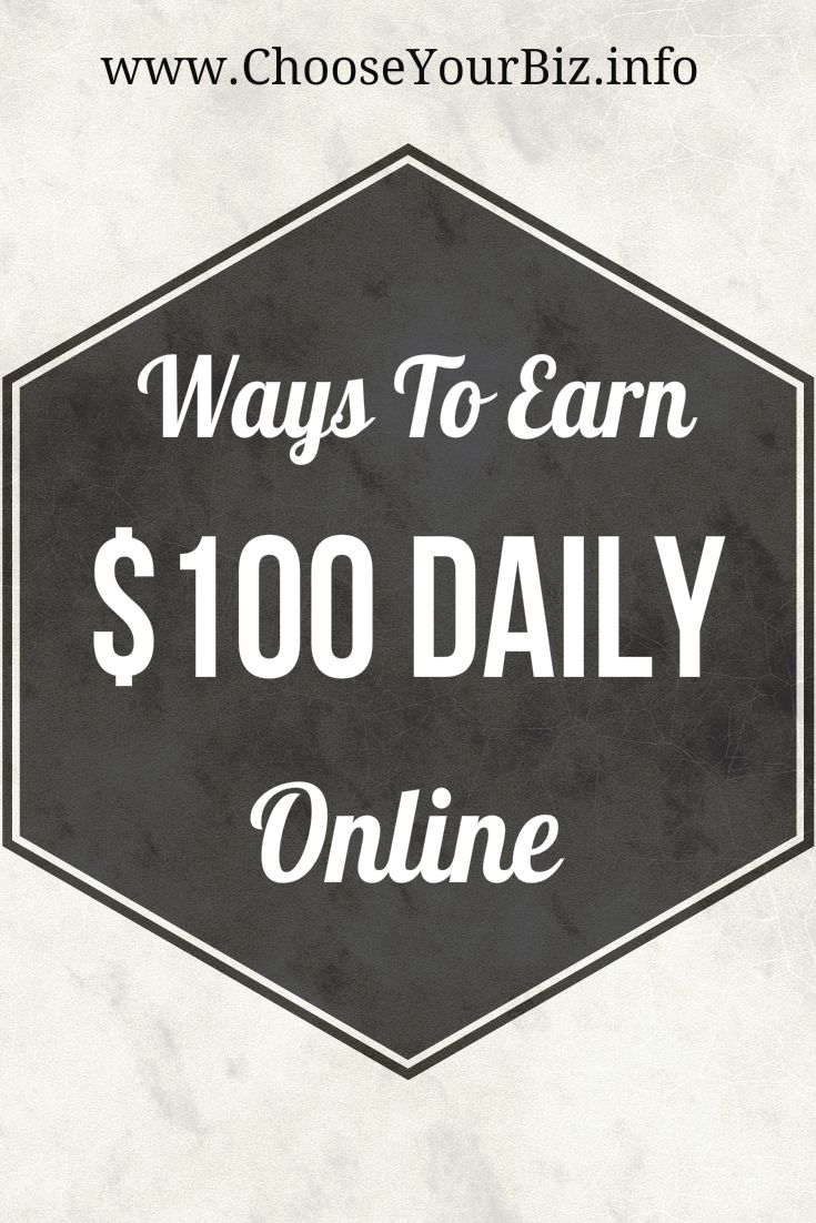 Many Ways To Earn $100  Online