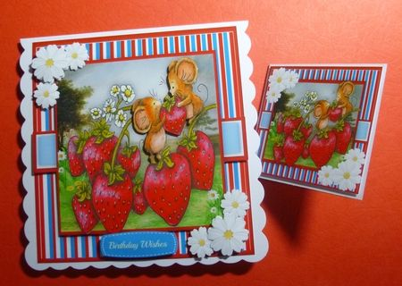 Strawberry Mice on Craftsuprint - View Now!