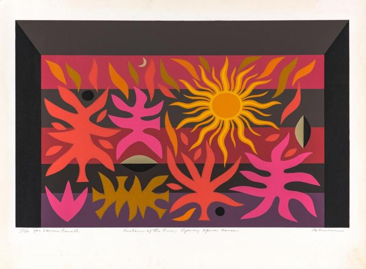 JOHN COBURN (1925-2006) Curtain of the Sun, Sydney Opera House - Price Estimate: $600 - $900