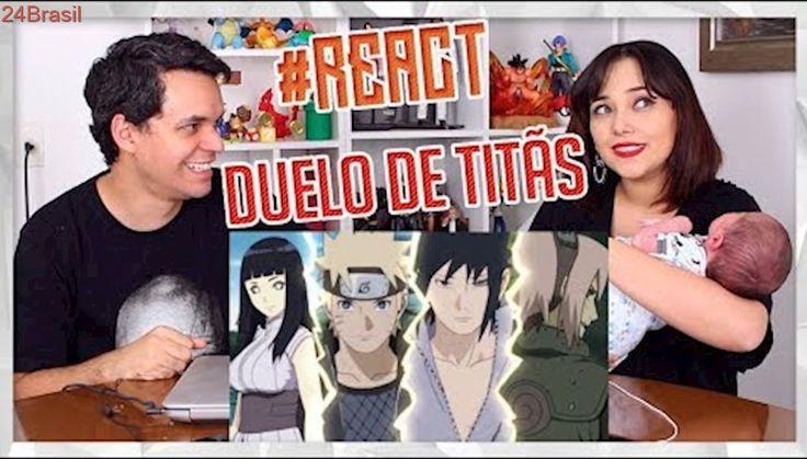 REACT Naruto e Hinata VS. Sasuke e Sakura | Duelo de Titãs Part. Felícia Rock e Sárcelli (7 Minutoz)