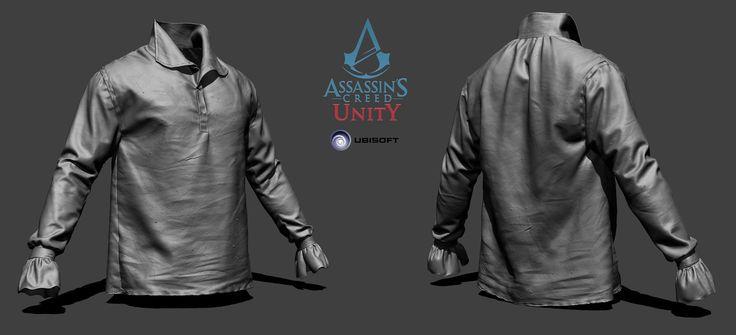 ArtStation - Assassin's Creed Unity - Arno shirt - ZBrush, Vince Rizzi