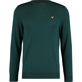 Teal Wool Crew Knitted Jumper