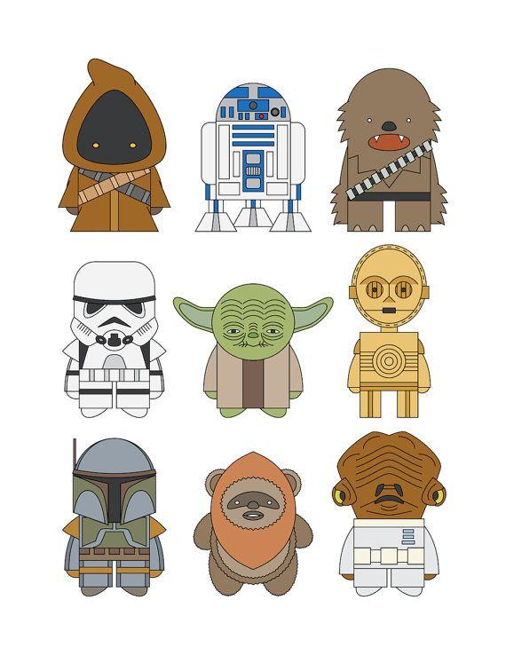 Star Wars por mintparcel en Etsy