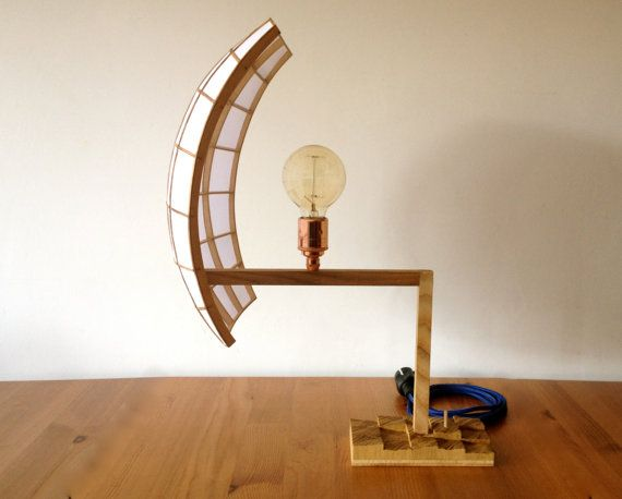 Wooden Table Lamp от dusiek на Etsy