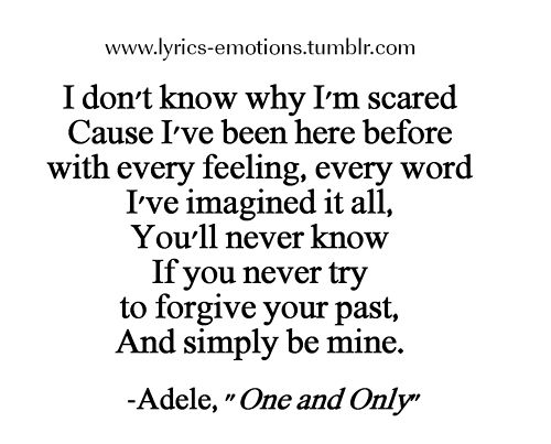 Lyrics by Adele from my favorite song