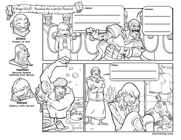 11 Best Images About Prophets On Pinterest Old Testament Naaman Coloring Page