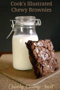 BB Monday: Cooks Illustrated Chewy Brownies--Crunchy Creamy Sweet