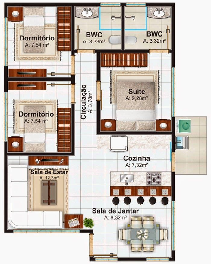 12 best Arquitetura images on Pinterest Home layouts, House design