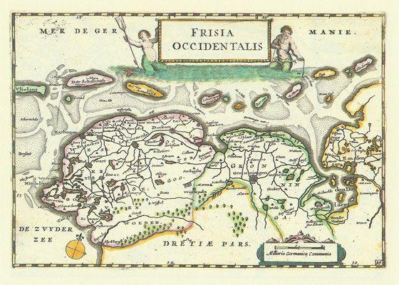 Kaarten van Friesland - Informatie over Friesland