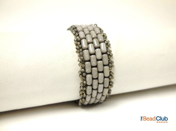 The Bead Club- Brick Road Bracelet using Rulla beads