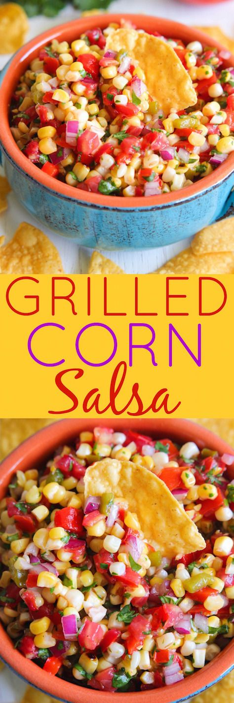 Grilled Corn Salsa - This delicious salsa is bursting with so many great textures and flavors.
