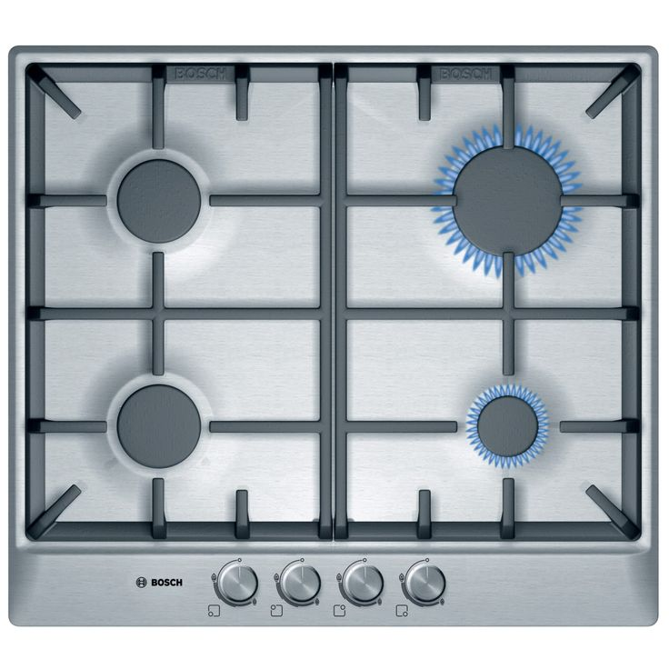 Buy Bosch PCP615B90B Gas Hob, Brushed Steel from our Hobs range at John Lewis. Free Delivery on orders over £50.