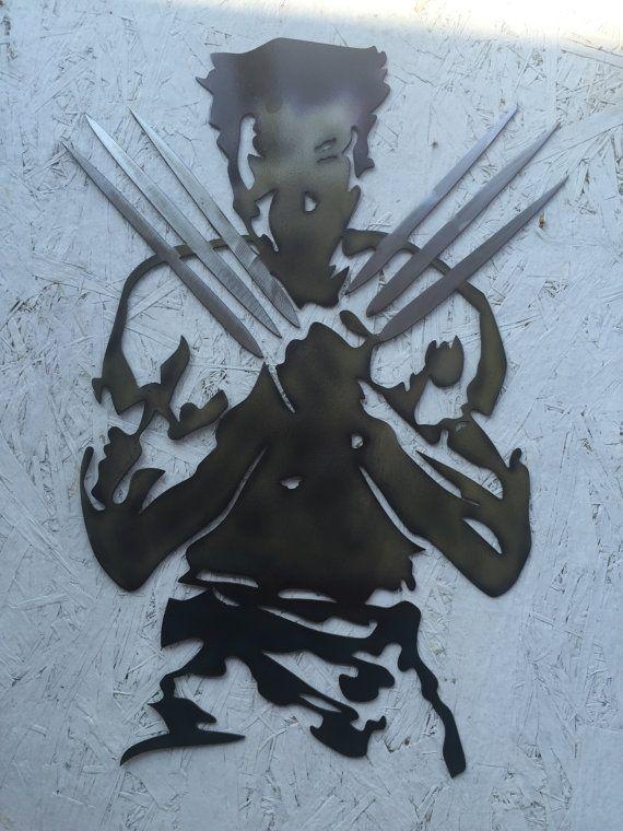 wolverine metal wall art xmen comics by SCHROCKMETALFX on Etsy