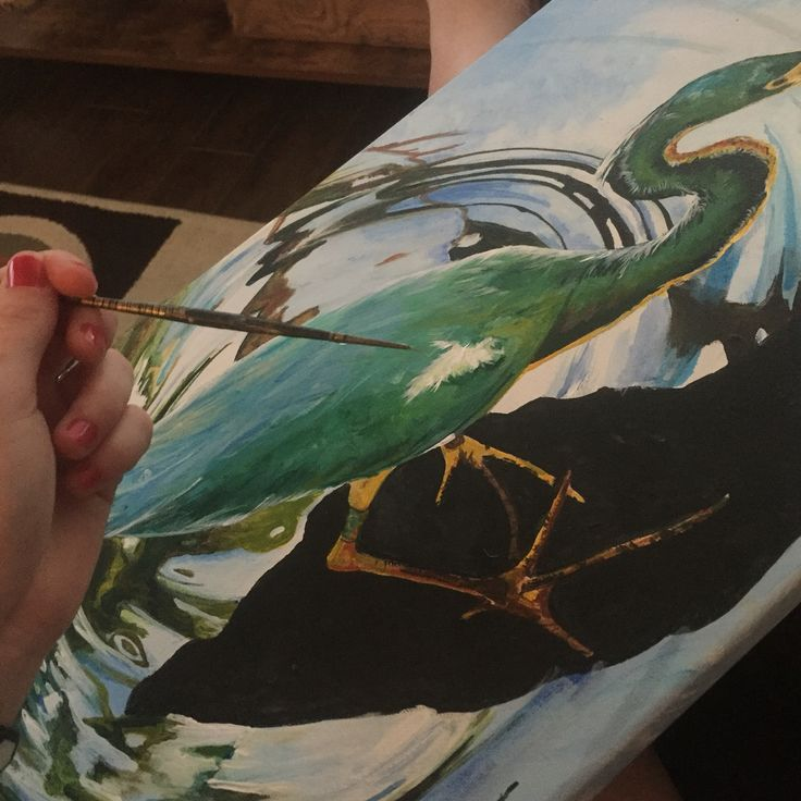 Heron painting by Tabitha Marshall. See her work here : www.tabcreates.ca #Canadian