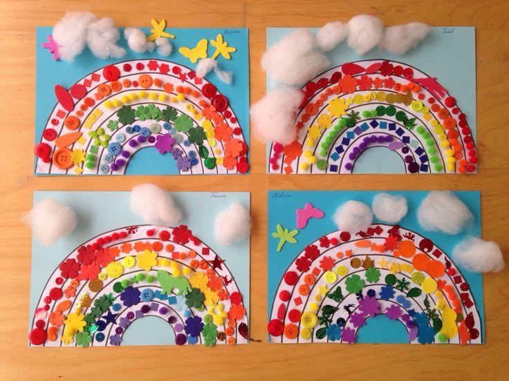 Bricolage arcs-en-ciel pour apprendre les couleurs