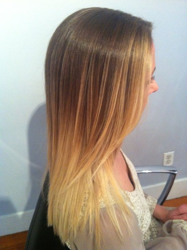 Blonde Ombre' on straight hair