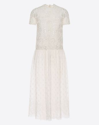 Are you looking for Valentino Lace And Guipure Dress? Find out all the details at Valentino Online Boutique and shop designer icons to wear.