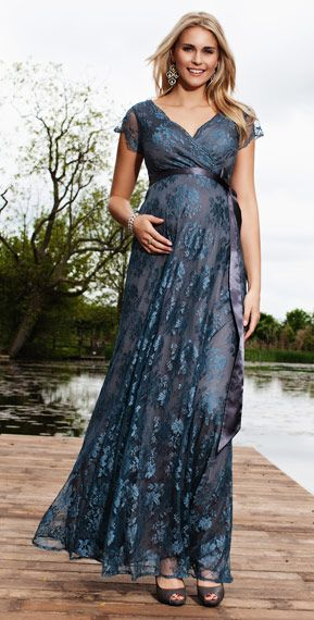 Eden Maternity Gown Long (Caspian Blue) – Maternity Wedding Dresses, Evening Wear and Party Clothes by Tiffany Rose