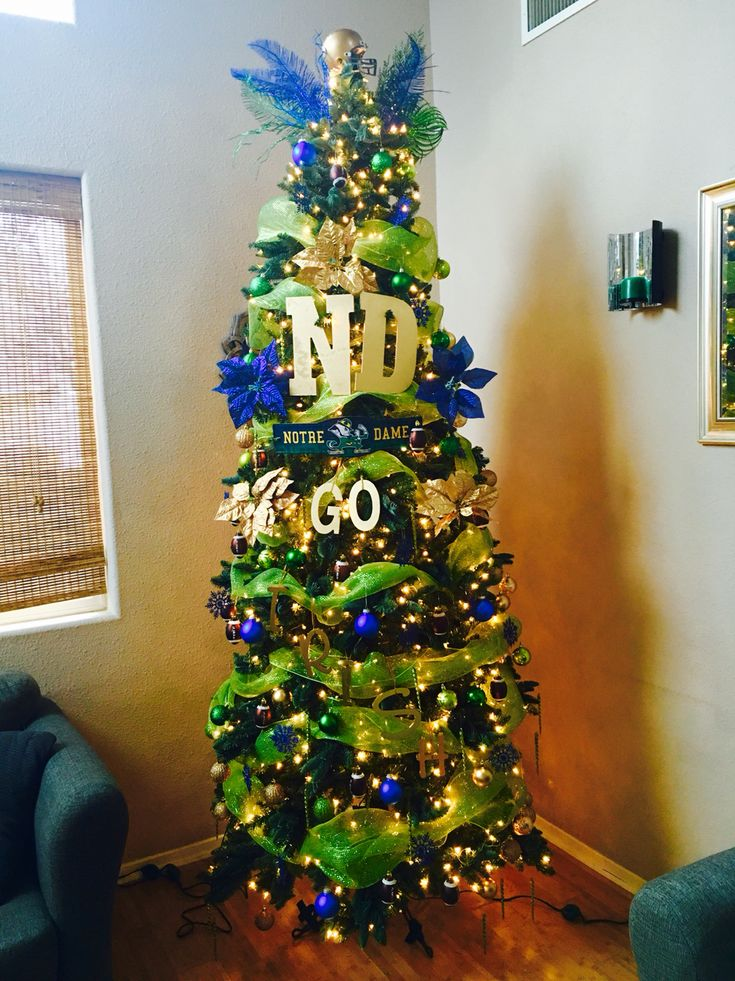 Notre Dame football Christmas tree