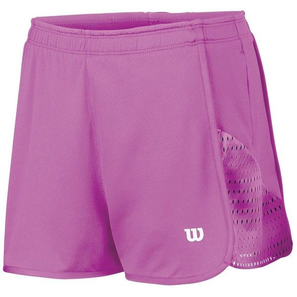 Women's Wilson Summer Colorflight Tennis Shorts, Size: L, Peony And... ($30) ❤ liked on Polyvore featuring activewear, activewear shorts and peony and coal