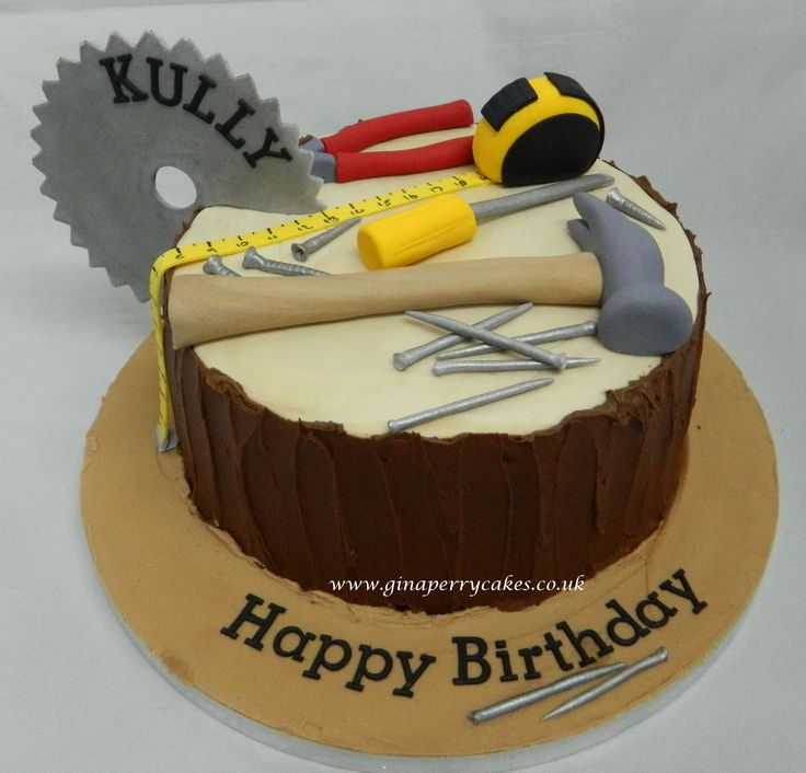 Builder and Carpenters birthday cake