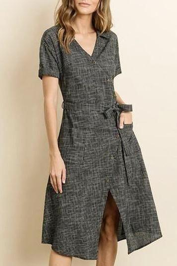 c1648a69e3c EcoVibe Apparel Tania Graph Print Cotton Shirt Dress Ethical Sustainable  Fashion