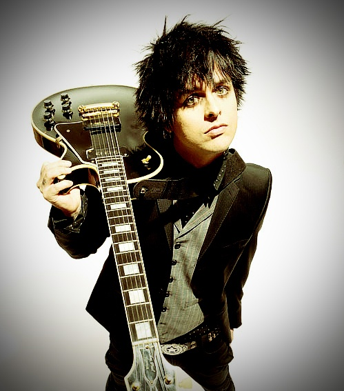 My two favorite things- Green Day and guitars :) This is my screen saver at college